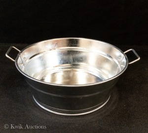 American Metal Craft 37oz Round Serving Tub with Side Handles - Lot of 5 (MTUB83)