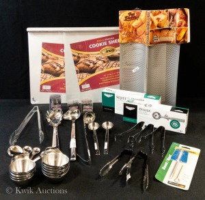 Utensils Special Package - Assorted Utensils, Bread Racks & Cookie Sheets - 1 Lot - As Pictured