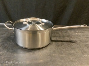 7.5 QT Heavy Duty Stainless Steel Sauce Pan with Lid & 2nd Handle - JR47682