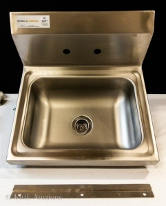 17'' Wall Mount Hand Sink - (MVP 120-HS17) - Faucet Not Included