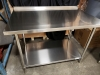 30'' x 48'' Stainless Work Table with 1-1/2'''' Backsplash - JR81349 - 2
