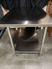 30'' x 48'' Stainless Work Table with 1-1/2'''' Backsplash - JR81349 - 3