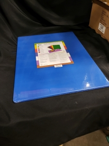 18'' x 24'' x 1/2'' Blue Poly Cutting Boards, Update CBBL-1824 - Lot of 2