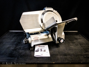"12"" Meat Slicer, Omcan MS-IT-300-IP (13629), Made in Italy, 110v, 30.5""W x 21.25""D x 18.5""H"