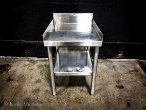 "17.5"""" x 31"""" Stainless Equipment Stand - 25.5"""" High with Welded Under Sholf"