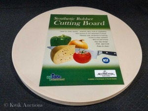 "14"" Round Synthetic Rubber Cutting Board - 5/8"" Thick (CBR-14R - Lot of 1"