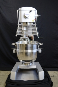 30qt Planetary Mixer with Bowl Guard, Hook, Whip, Paddle, #12 Attachment Hub, Omcan 20442