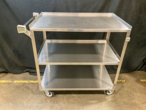 "Stainless Steel 3 Shelf Cart - 21"" x 35"" - Weight Capacity 500 LBS - Model Focus 90444 - Lot of 1"