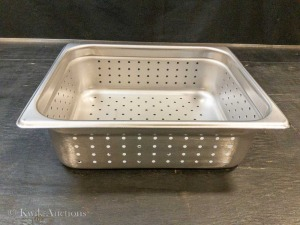 "1/2 Size Stainless Steel 4"" Deep Perforated Steam Pan Insert (57205) - Lot of 2"