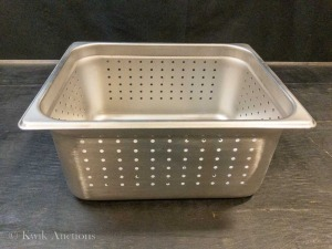 "1/2 Size Stainless Steel 6"" Deep Perforated Steam Pan Insert (57207) - Lot of 2"