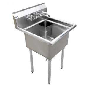 "18"""" x 18"""" x 11"""" One Tub Sink with Corner Drain - CSA Certified - Model 22122"